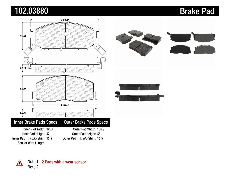 C-TEK BY CENTRIC - C-TEK Metallic Brake Pads-Preferred (Front) - CTK 102.03880