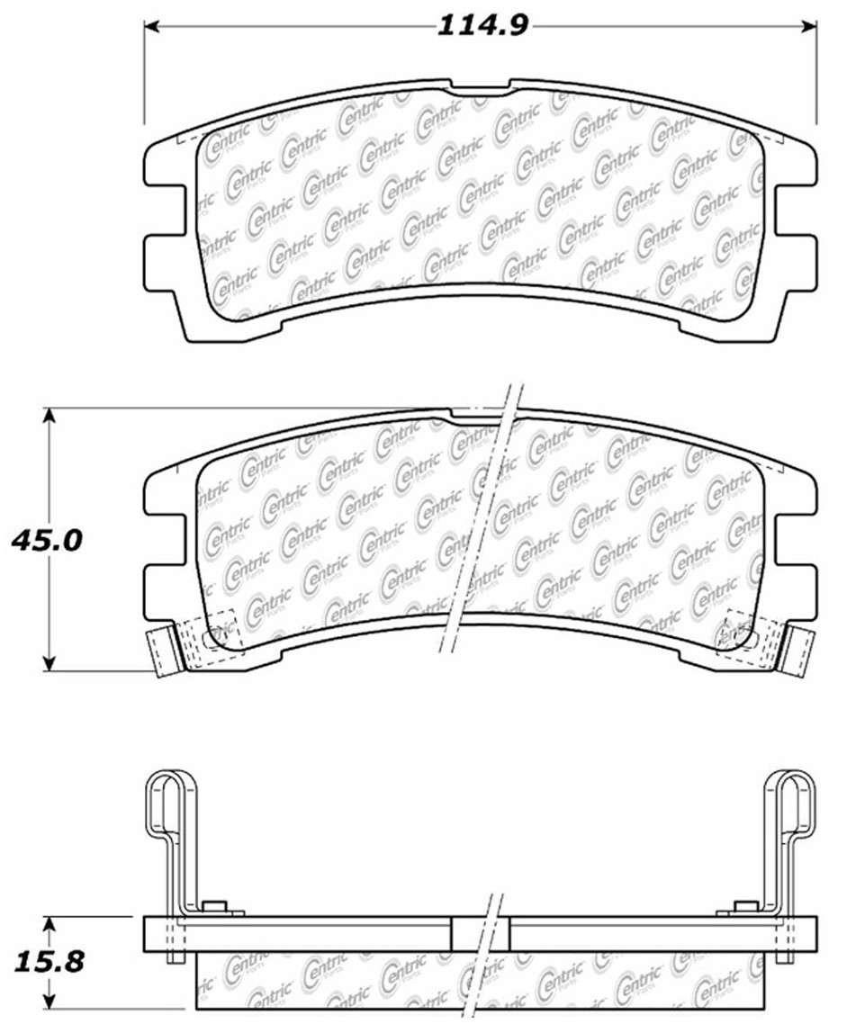 C-TEK BY CENTRIC - C-TEK Metallic Brake Pads (Rear) - CTK 102.04010