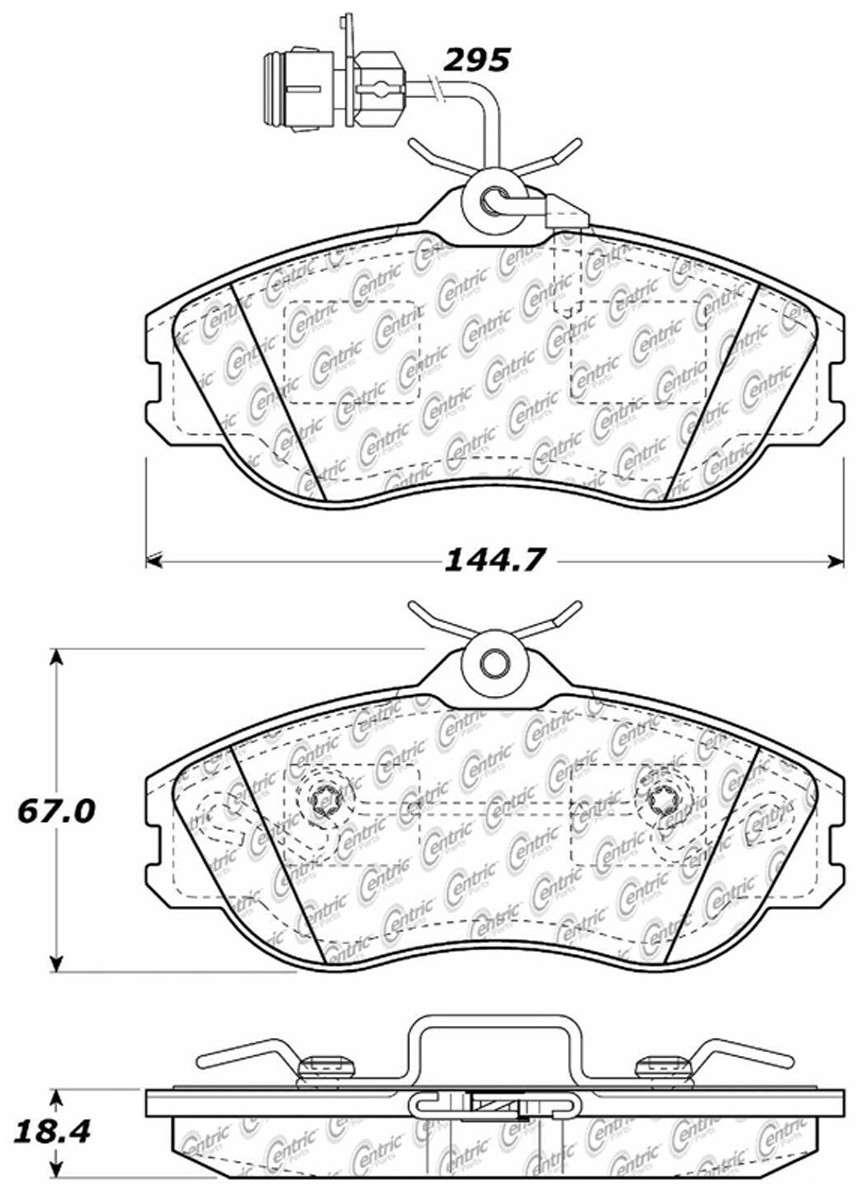 C-TEK BY CENTRIC - C-TEK Metallic Brake Pads-Preferred (Front) - CTK 102.04191