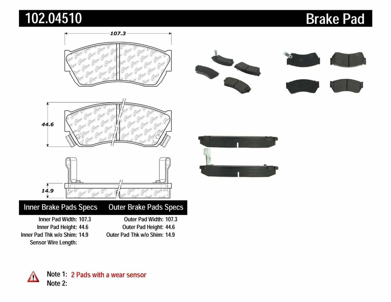 C-TEK BY CENTRIC - C-TEK Metallic Brake Pads (Front) - CTK 102.04510