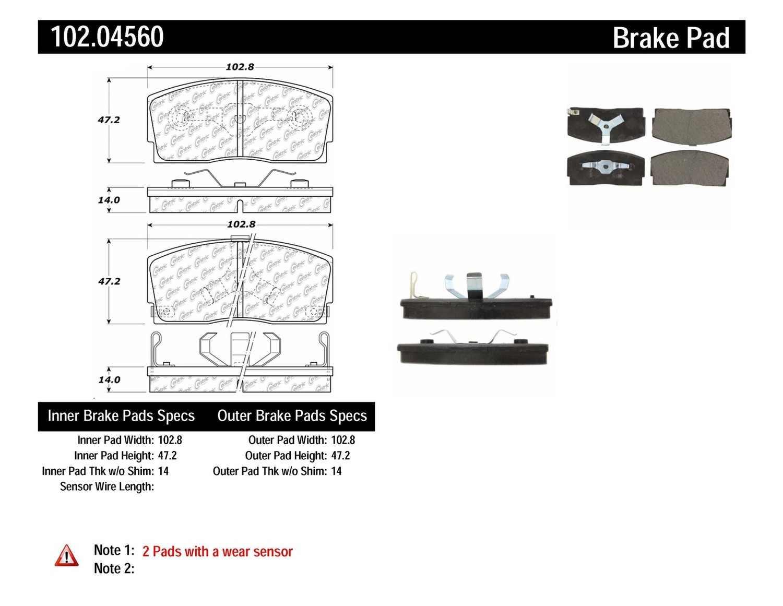 C-TEK BY CENTRIC - C-TEK Metallic Brake Pads-Preferred - CTK 102.04560