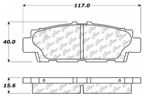 C-TEK BY CENTRIC - C-TEK Metallic Brake Pads (Rear) - CTK 102.04880