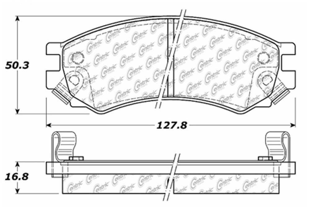 C-TEK BY CENTRIC - C-TEK Metallic Brake Pads (Front) - CTK 102.05070
