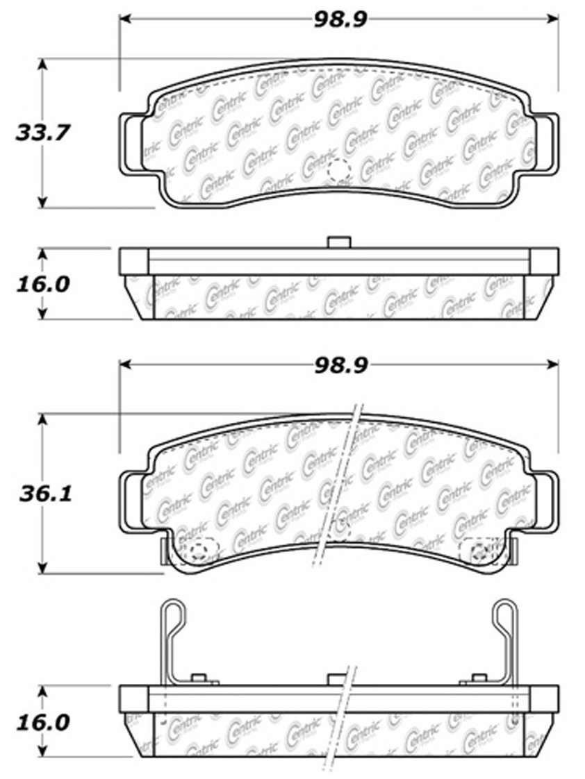 C-TEK BY CENTRIC - C-TEK Metallic Brake Pads (Rear) - CTK 102.05110