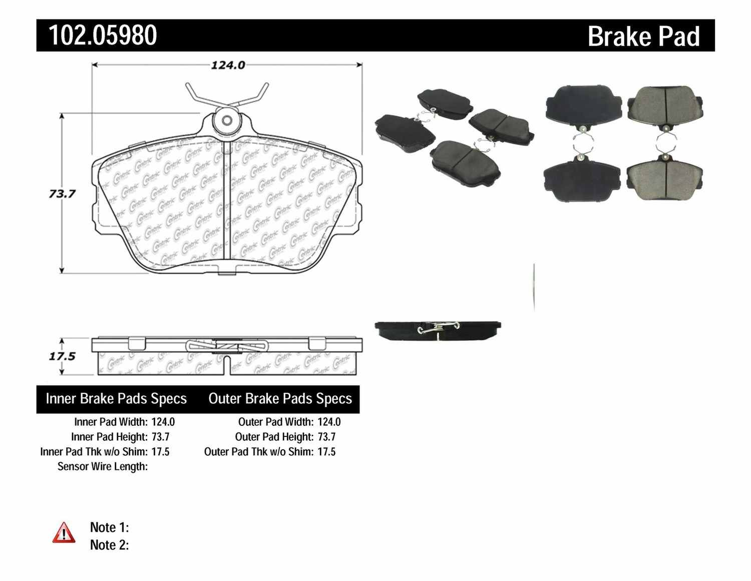 Centric Parts Brake Caliper Rebuild Kit 143.61018