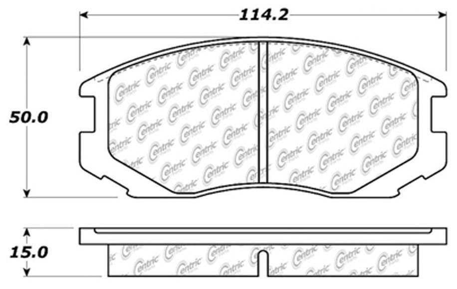 C-TEK BY CENTRIC - C-TEK Metallic Brake Pads (Front) - CTK 102.06020