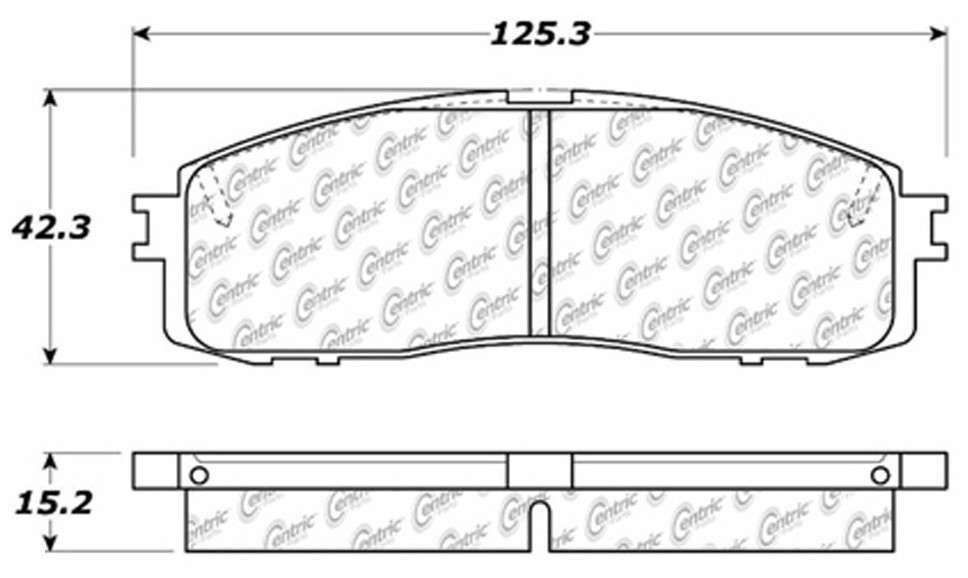 C-TEK BY CENTRIC - C-TEK Metallic Brake Pads (Rear) - CTK 102.06220