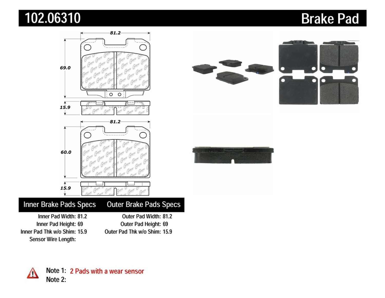 C-TEK BY CENTRIC - C-TEK Metallic Brake Pads - CTK 102.06310