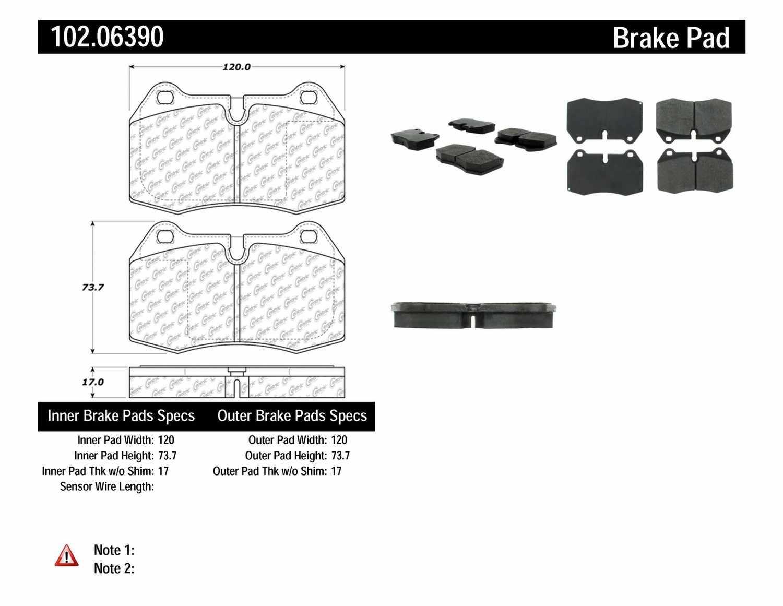 C-TEK BY CENTRIC - C-TEK Metallic Brake Pads (Front) - CTK 102.06390