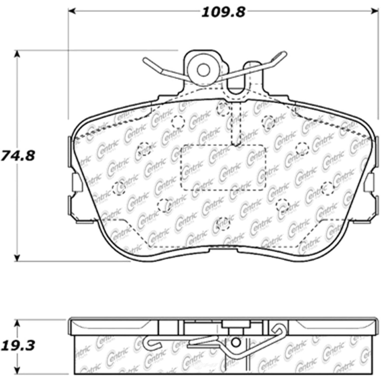 C-TEK BY CENTRIC - C-TEK Metallic Brake Pads (Front) - CTK 102.06450