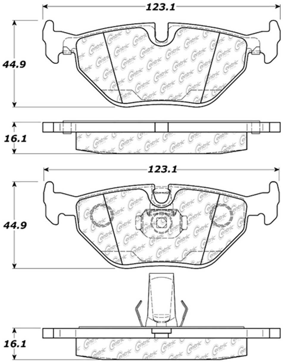 C-TEK BY CENTRIC - C-TEK Metallic Brake Pads (Rear) - CTK 102.06921