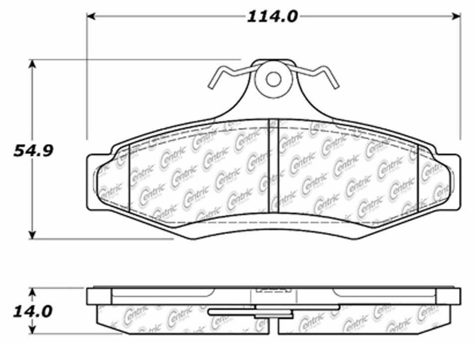 C-TEK BY CENTRIC - C-TEK Metallic Brake Pads - CTK 102.07240