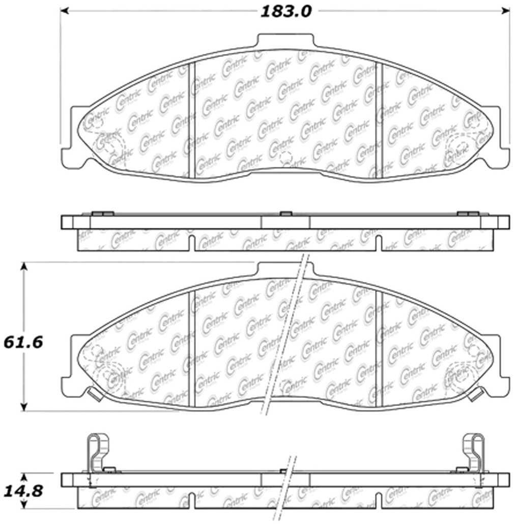 C-TEK BY CENTRIC - C-TEK Metallic Brake Pads (Front) - CTK 102.07490