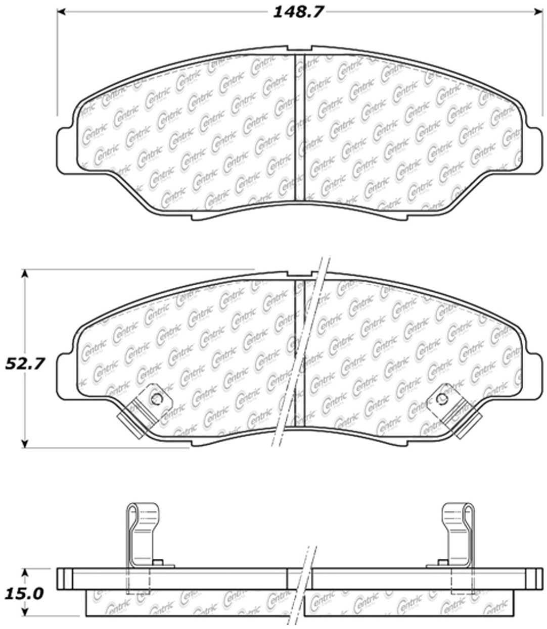 C-TEK BY CENTRIC - C-TEK Metallic Brake Pads (Front) - CTK 102.07740