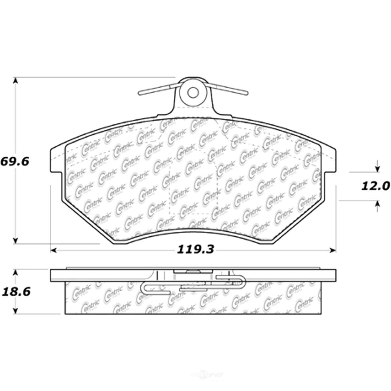 C-TEK BY CENTRIC - C-TEK Metallic Brake Pads (Front) - CTK 102.07800
