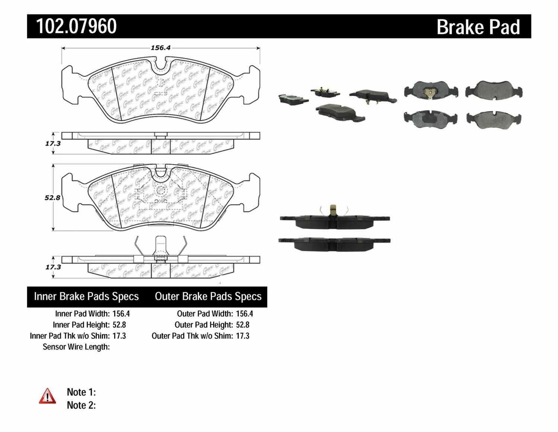 C-TEK BY CENTRIC - C-TEK Metallic Brake Pads (Front) - CTK 102.07960