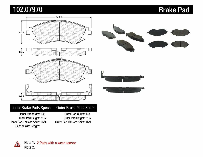 C-TEK BY CENTRIC - C-TEK Semi-Metallic Disc Brake Pad Sets (Front) - CTK 102.07970