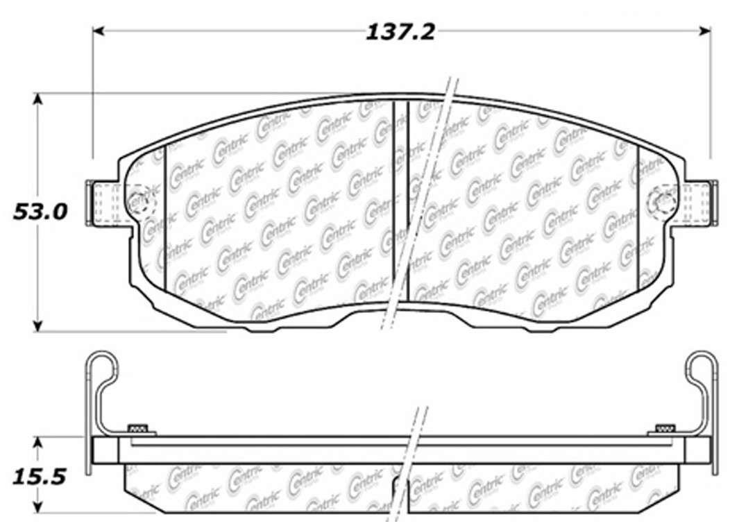 C-TEK BY CENTRIC - C-TEK Metallic Brake Pads (Front) - CTK 102.08151