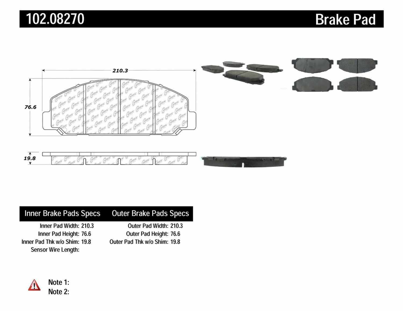 C-TEK BY CENTRIC - C-TEK Metallic Brake Pads - CTK 102.08270