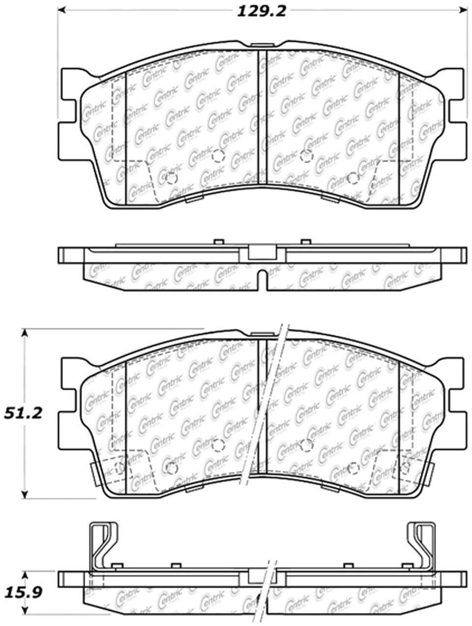 C-TEK BY CENTRIC - C-TEK Metallic Brake Pads (Front) - CTK 102.08890