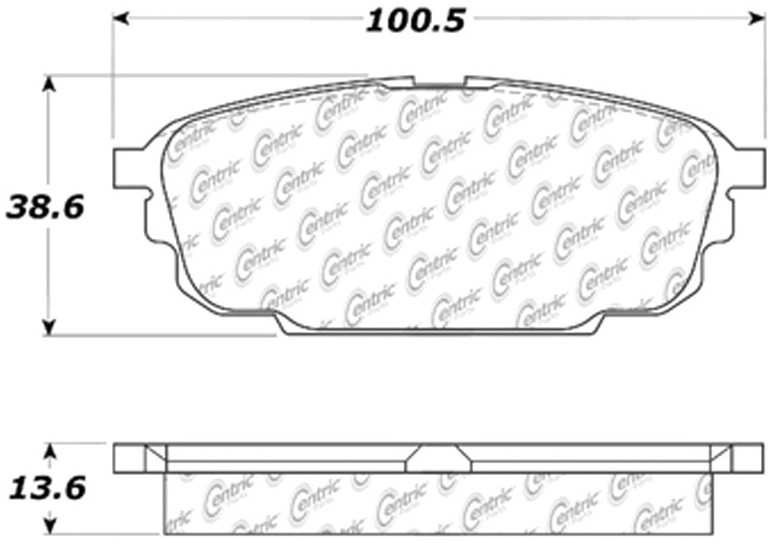 C-TEK BY CENTRIC - C-TEK Metallic Brake Pads (Rear) - CTK 102.08920