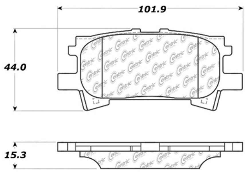 C-TEK BY CENTRIC - C-TEK Metallic Brake Pads (Rear) - CTK 102.09960