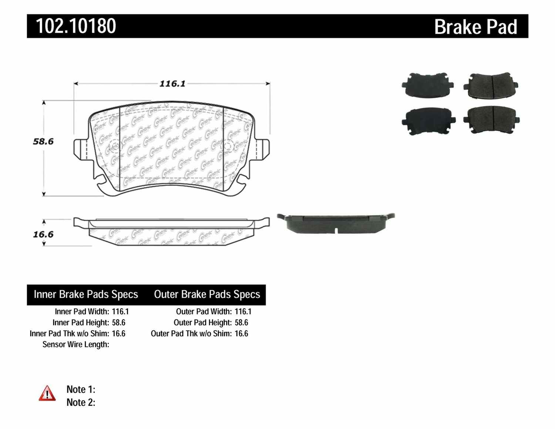 C-TEK BY CENTRIC - C-TEK Metallic Brake Pads - CTK 102.10180