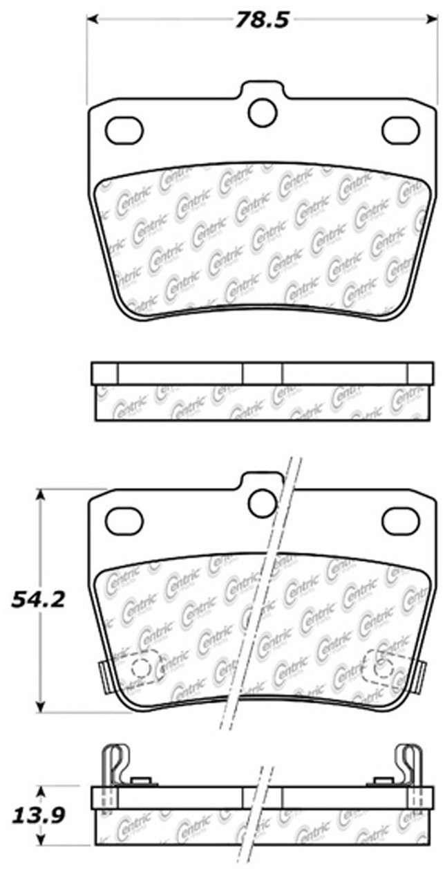 C-TEK BY CENTRIC - C-TEK Metallic Brake Pads (Rear) - CTK 102.10510