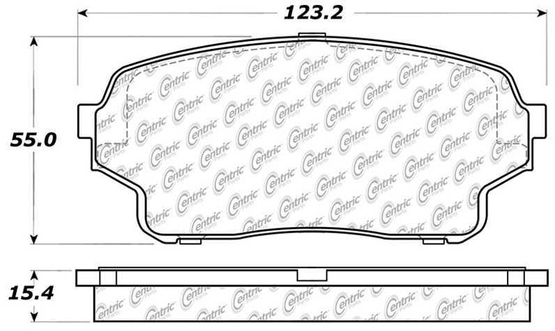 C-TEK BY CENTRIC - C-TEK Metallic Brake Pads - CTK 102.11050