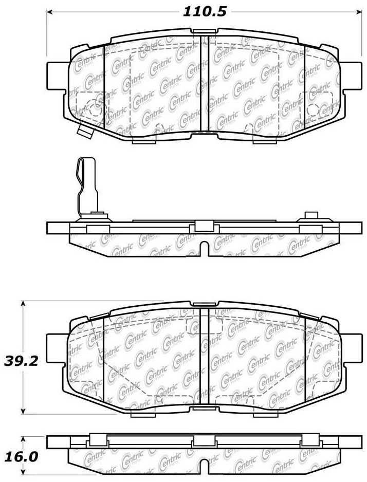 C-TEK BY CENTRIC - C-TEK Metallic Brake Pads (Rear) - CTK 102.11240