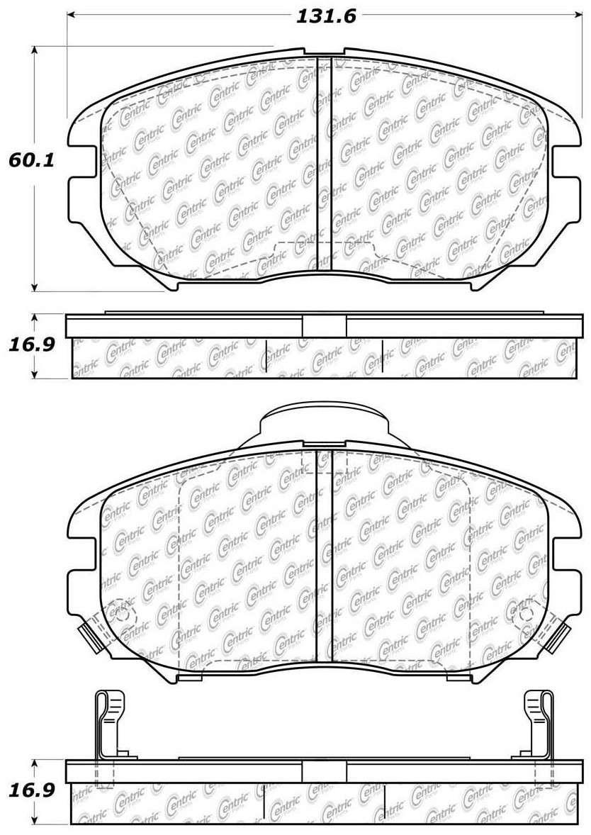 C-TEK BY CENTRIC - C-TEK Metallic Brake Pads (Front) - CTK 102.11250