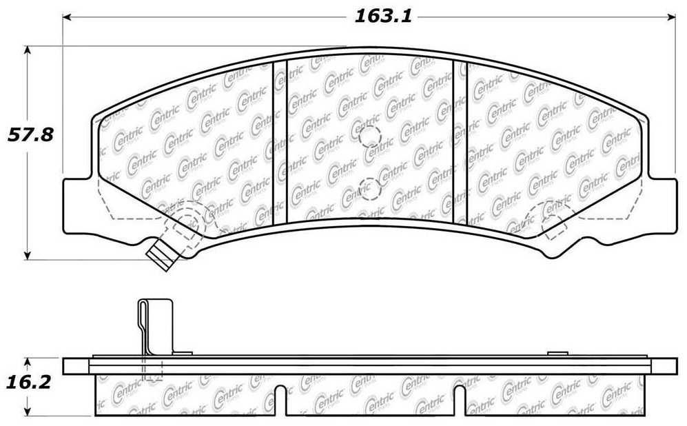 C-TEK BY CENTRIC - C-TEK Metallic Brake Pads - CTK 102.11590
