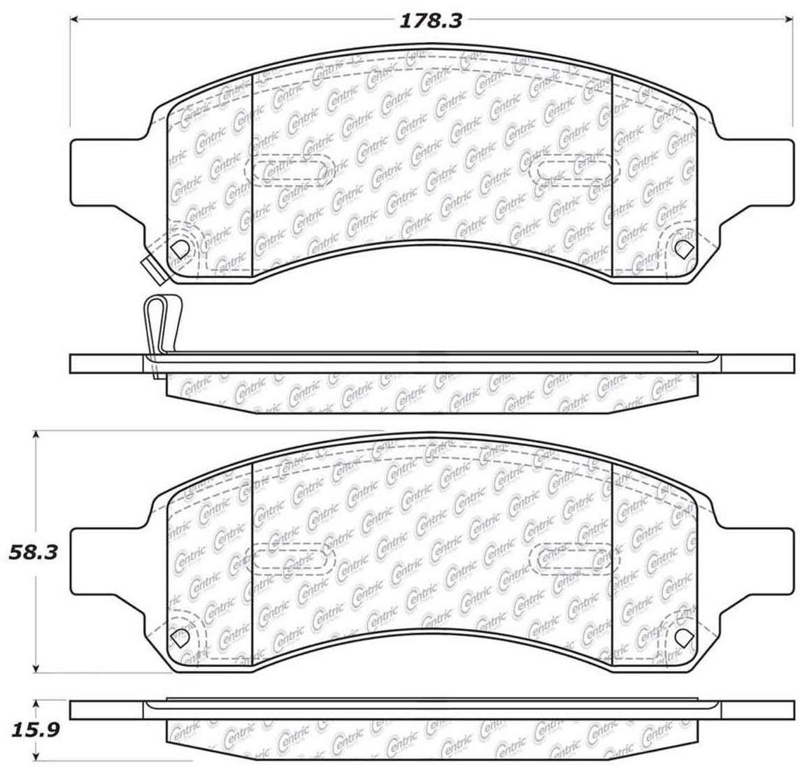 C Tek By Centric Disc Brake Pad Set Part Number 10211691 Arnolt Bristol Wiring Diagram Metallic Pads Front