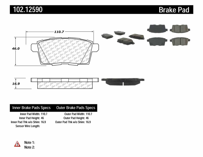 C-TEK BY CENTRIC - C-TEK Metallic Brake Pads - CTK 102.12590