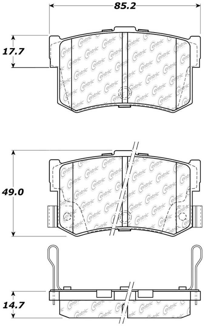 C-TEK BY CENTRIC - C-TEK Metallic Brake Pads (Rear) - CTK 102.12620