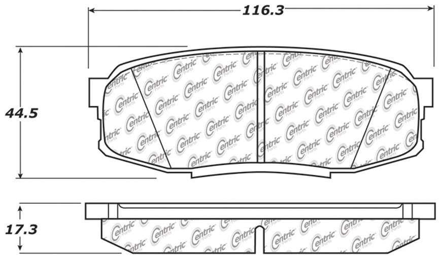 C-TEK BY CENTRIC - C-TEK Metallic Brake Pads (Rear) - CTK 102.13040