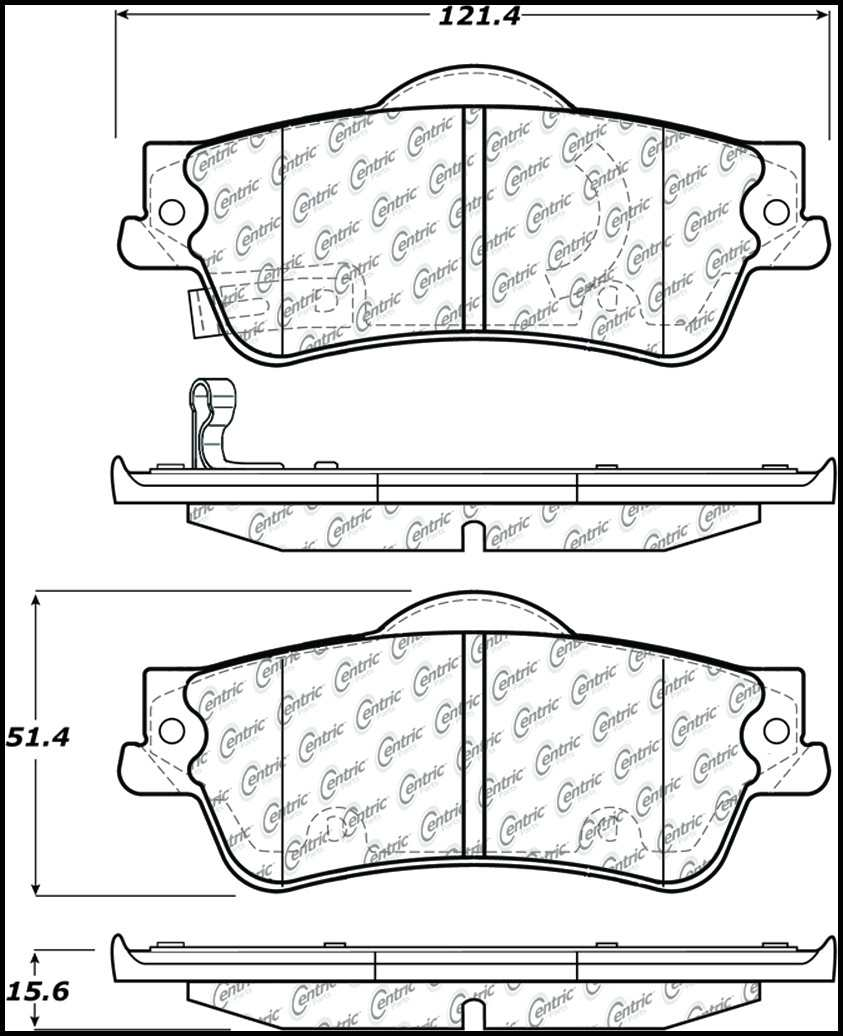 C-TEK BY CENTRIC - C-TEK Metallic Brake Pads (Rear) - CTK 102.13520