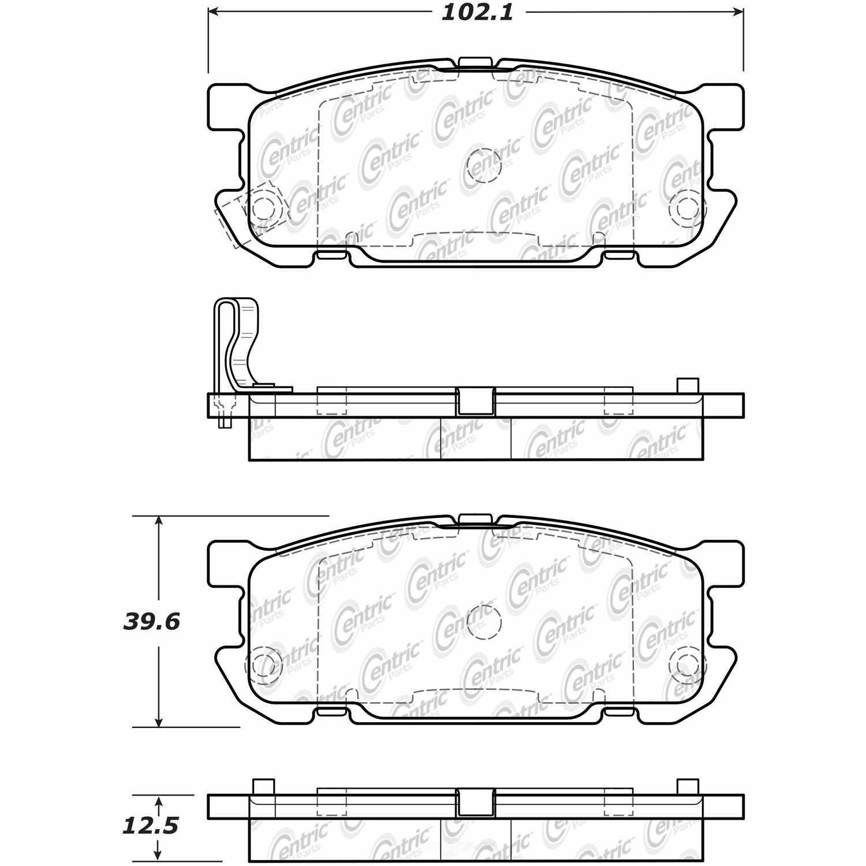 C-TEK BY CENTRIC - C-TEK Ceramic Brake Pads (Rear) - CTK 103.08910