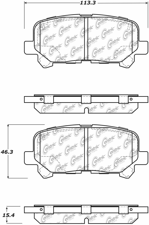 C-TEK BY CENTRIC - C-TEK Ceramic Brake Pads (Rear) - CTK 103.15850