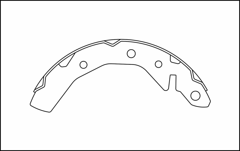 C-TEK BY CENTRIC - C-TEK Brake Shoes - CTK 110.09951