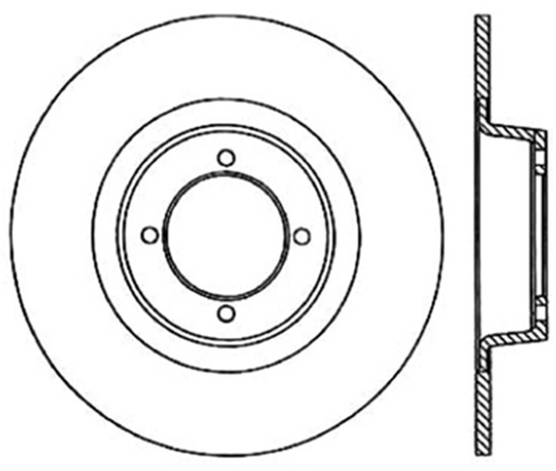C-TEK BY CENTRIC - C-TEK Standard Disc Brake Rotor-Preferred - CTK 121.25002