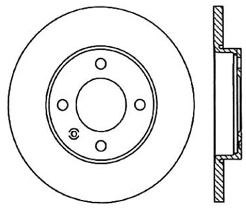 C-TEK BY CENTRIC - C-TEK Standard Disc Brake Rotor-Preferred (Front) - CTK 121.33003