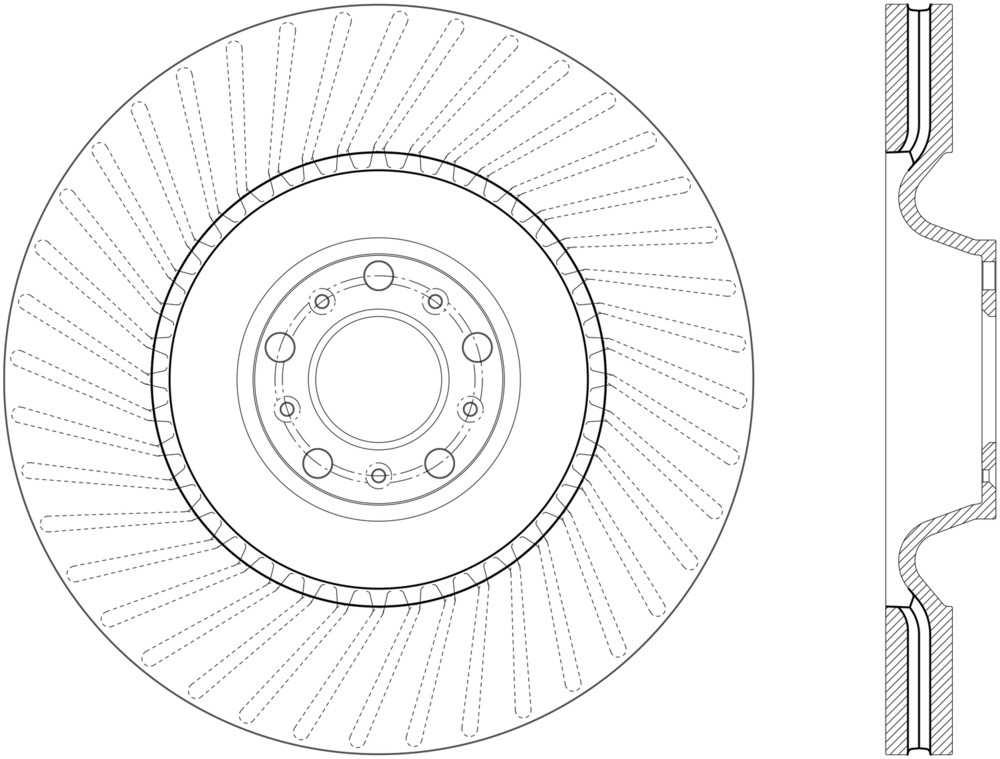 C-TEK BY CENTRIC - C-TEK Standard Disc Brake Rotor - CTK 121.33147