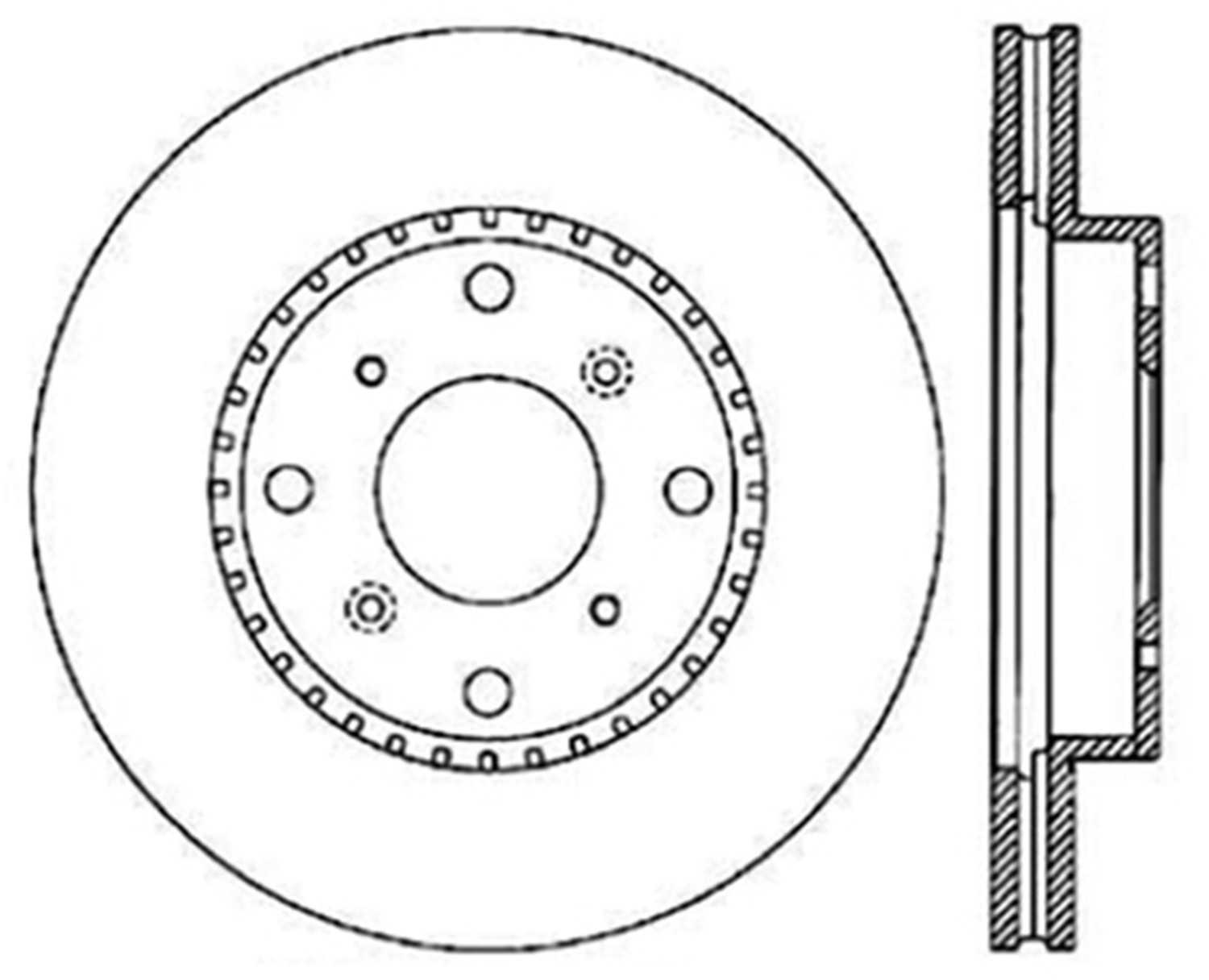 C-TEK BY CENTRIC - C-TEK Standard Disc Brake Rotor-Preferred (Front) - CTK 121.40032