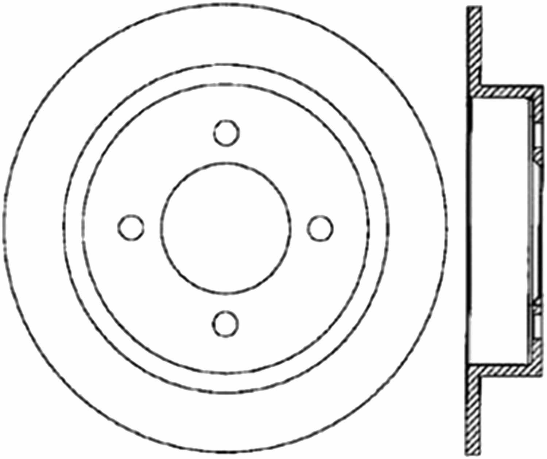 C-TEK BY CENTRIC - C-TEK Standard Disc Brake Rotor-Preferred (Rear) - CTK 121.42054