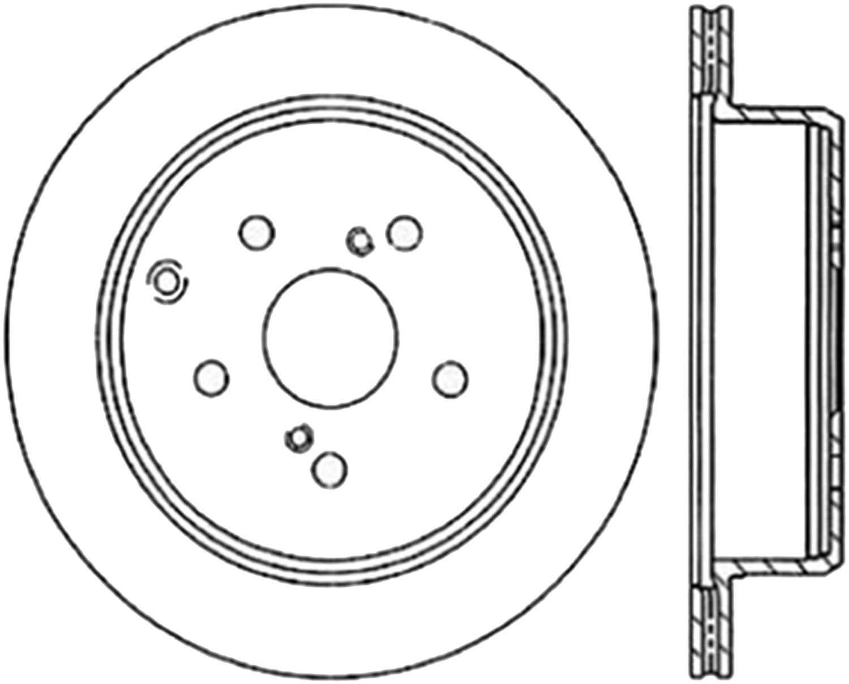 C-TEK BY CENTRIC - C-TEK Standard Disc Brake Rotor-Preferred (Rear) - CTK 121.44041