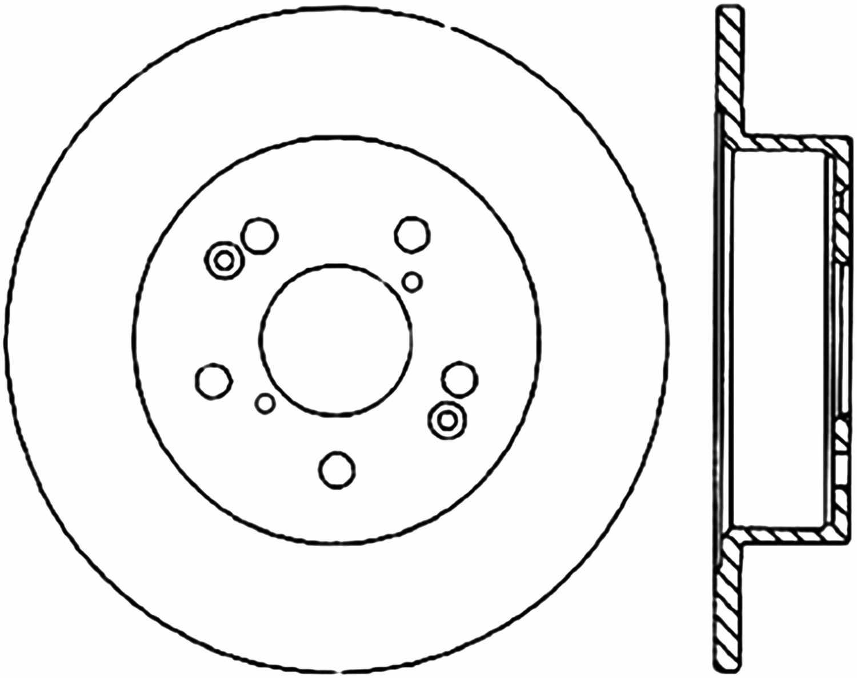 C-TEK BY CENTRIC - C-TEK Standard Disc Brake Rotor-Preferred (Rear) - CTK 121.47007