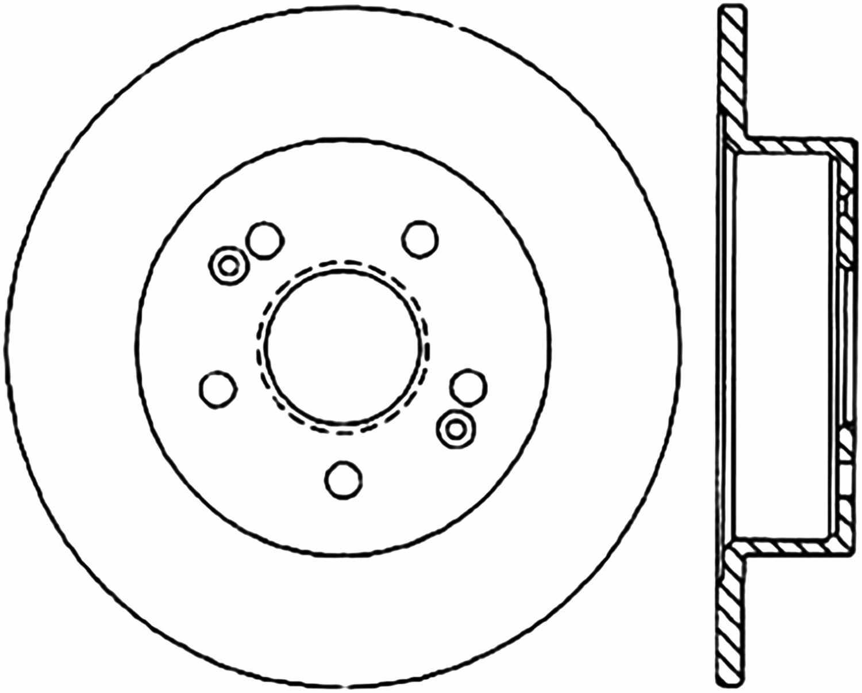 C-TEK BY CENTRIC - C-TEK Standard Disc Brake Rotor-Preferred (Rear) - CTK 121.47008