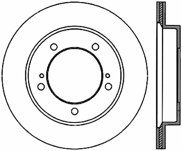C-TEK BY CENTRIC - C-TEK Standard Disc Brake Rotor-Preferred - CTK 121.48005