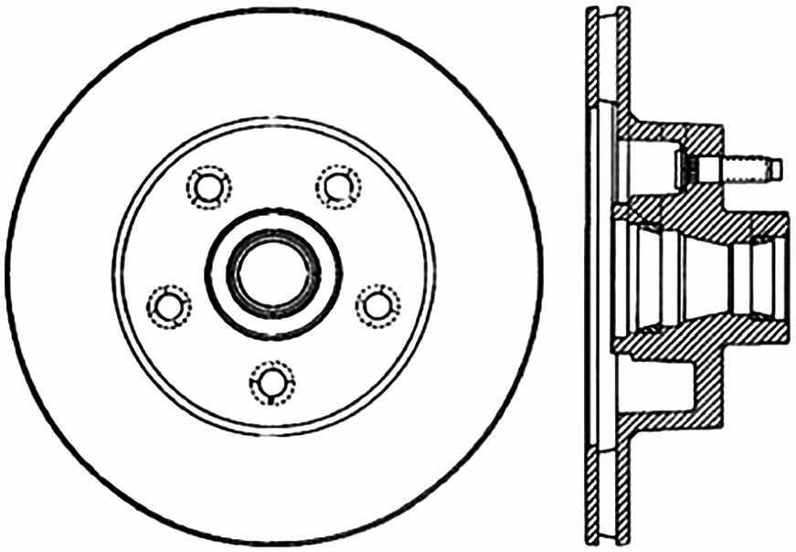 C-TEK BY CENTRIC - C-TEK Standard Disc Brake Rotor-Preferred (Front) - CTK 121.61010